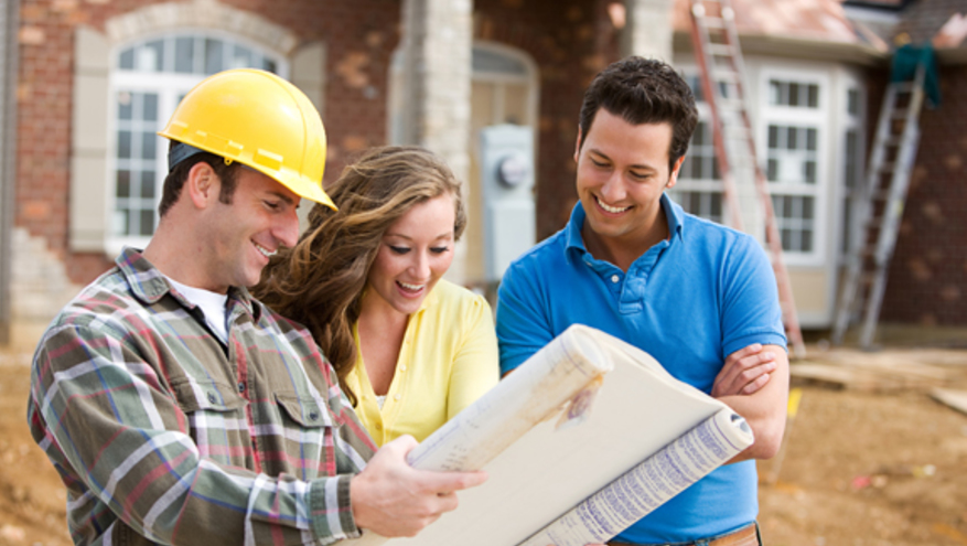 I877 shutterstock 170475800 couple building plans new home web