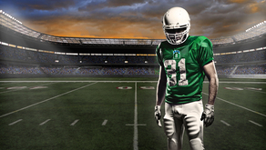I292 football player green bou
