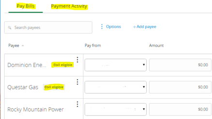 I438 bill pay page