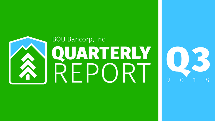 BOU Bancorp third quarter financial report graphic