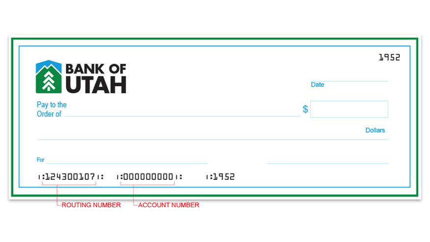 account and routing numbers on check