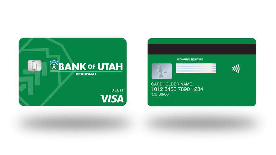 Bank of Utah Contactless Debit Card